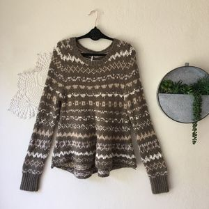 Free People Through the Storm Fair Isle sweater